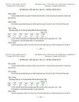 Đề kiểm tra 1 tiết địa 11 (kèm đáp án)