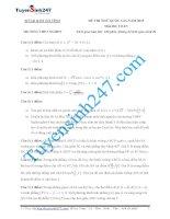 đề thi thử thpt quốc gia môn toán trường THPT Nghèn - Hà Tĩnh