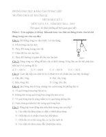 Đề kiểm tra học kì 2 môn Vật Lý lớp 6 năm 2015 trường THCS Lê Thị Cẩm Lệ, Bạc Liêu