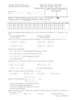 đề thi đại số tuyến tính-trắc nghiệm