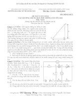 Đề thi tuyển sinh lớp 10 môn Vật lý chuyên Đại Học sư phạm hà nội năm học 2012 - 2013(có đáp án)