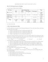 Đề kiểm tra học kì I môn Vật lý lớp 6 - Đề số 1