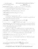 ĐỀ THI KHẢO SÁT ĐH-CĐ NĂM HỌC 2014 – 2015 LẦN 1 môn toán lớp 12