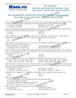 Đề 8 Quy luật di truyền (Mỗi gen trên 1 NST thường)