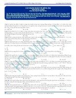 Tuyển tập câu hỏi trắc nghiệm môn vật lý phần sóng cơ (9)
