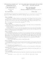 KỲ THI CHỌN HỌC SINH GIỎI CẤP TRƯỜNG môn hóa lớp 11