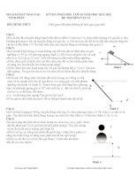 Đề thi học sinh giỏi môn Vật lý lớp 10 năm học 2011 - 2012(có đáp án)