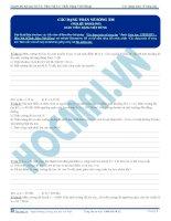 Tuyển tập câu hỏi trắc nghiệm môn vật lý phần sóng cơ (10)