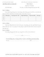 Đề thi học kì 2 môn Lịch Sử lớp 10 trường THPT Lý Thái Tổ năm học 2014-2015