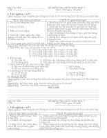 Bộ đề kiểm tra chất lượng môn sinh học lớp 7 tham khảo hay (3)