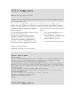 FCE Writing (Part 1, 2)