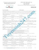 đề thi thử thpt quốc gia môn hóa trường THPT cù huy cận   hà tĩnh