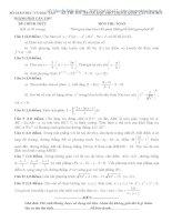 KỲ THI THỬ TRUNG HỌC PHỔ THÔNG QUỐC GIA NĂM 2015 môn toán