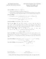 Đề thi thử đại học lần 1 môn toán trường THPT Đoàn Thượng , Hải Dương năm 2014