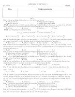 đề kiểm tra 45 phút lớp 12 môn hóa lần 1