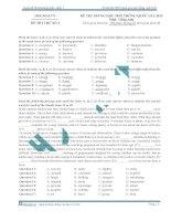 đề thi thử đại học môn tiếng anh 2015 số 2