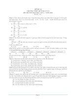 đề thi thử đại học môn sinh các trường THPT trên toàn quốc đề số  (7)