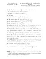 đề thi thử môn toán đại học vinh lần 1