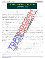 đề thi thử môn toán 2015 số 11 của toanhoc24h