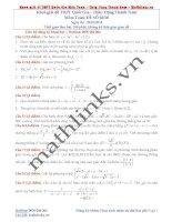 Đề thi thử và cách giải môn toán thầy đặng thành nam (2)