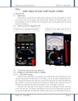 Báo cáo thực tập nhận thức về các thiết bị đo lường