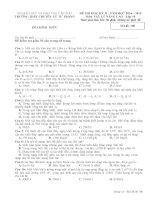 ĐỀ VÀ ĐÁP ÁN HỌC KÌ 2- MÔN VẬT LÍ CƠ BẢN 10 - NĂM HỌC 2014 & 2015 - THÀNH PHỐ CẦN THƠ - THPT CHUYÊN LÝ TỰ TRỌNG (1)