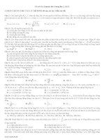 Đề thi thử đại học môn Vật Lý (17)