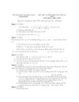 đề ôn thi vào lớp 10 môn toán tham khảo, đề  35