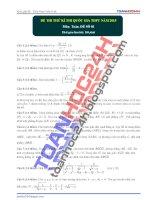 đề toán thi thử lần 1 năm 2015 của toanhoc24h