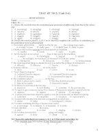 kiểm tra 1 tiết lần 2 HKI tiếng  Anh lớp 11