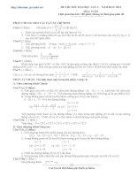 ôn thi toán đại học, đề số 2