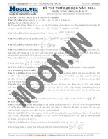 đề toán thi thử đại học lần thứ 43 của moon năm 2014