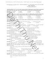 Đề mẫu môn Tiếng Anh THPT Quốc Gia 2015 kèm đáp án (Key) của Bộ GD & ĐT