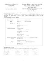 Đề thi học sinh giỏi Tiếng Anh lớp 12 số 2