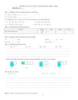 BỘ đề ôn TOÁN lớp 2 CUỐI học kì 2 (2015 – 2016)