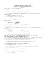 Đề thi và gợi ý môn toán (Khối A và D) năm 2007 CĐKTĐN