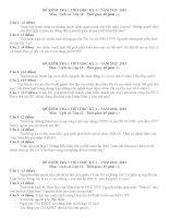 ĐỀ KIỂM TRA 45 PHÚT-LỚP 12 môn lịch sử