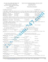 Đề thi thử THPT Quốc Gia môn Tiếng AnhNguyễn Công Phương Quảng ngãi năm 2015