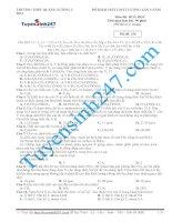 Đề thi thử THPT Quốc Gia môn Hóa-Trường THPT Quảng Xương 3
