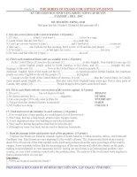 Đề luyện thi học sinh giỏi Tiếng Anh lớp 8 số 25