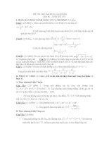thi thử đại học môn toán, đề 115