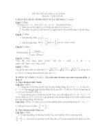thi thử đại học môn toán, đề 98