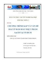 Chương trình kap và vấn đề haccp đảm bảo thực phẩm sạch tại chi cục an toàn vệ sinh thực phẩm TP Hồ Chí Minh