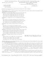 Đề thi thử Đại HỌC – THPT Quốc Gia 2015 môn Tiếng Anh (Có đáp án) – Đề số 1