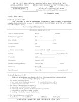 Đề thi học sinh giỏi Tiếng Anh lớp 12 số 3