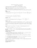 thi thử đại học môn toán, đề 111
