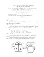 bộ đề thi tốt nghiệp lý thuyết ngành may và thiết kế thời trang cao đẳng nghề đề số  (26)