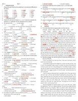 UNIT 2 english 11 TEST 1 - KEY