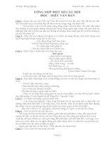 tổng hợp đề thi đọc hiểu văn 12