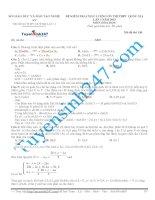 Đề thi thử THPT Quốc Gia môn Hóa-Trường THPT Quỳnh Lưu 1 Nghệ An